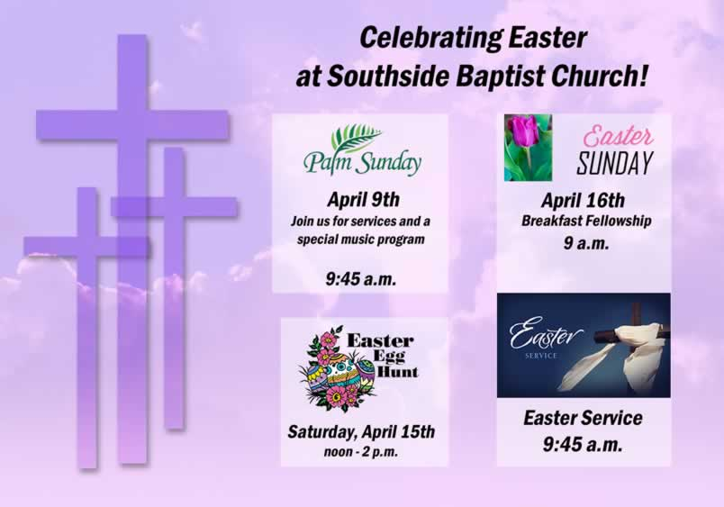Come celebrate Easter at Southside