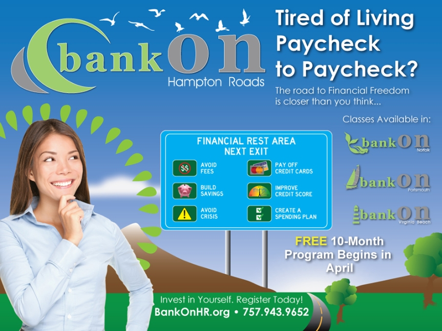 Get a fresh financial start with Bank on Hampton Roads