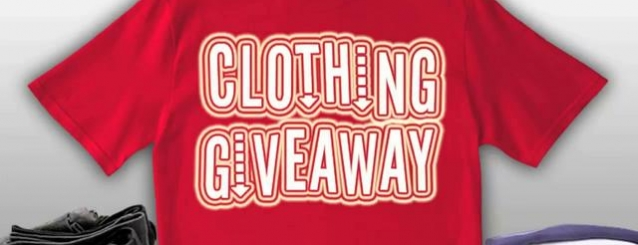 Clothes Give Away May 19; Yard Sale June 9