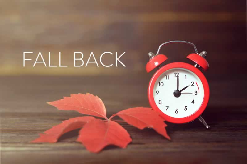 Daylight Savings Time ends Nov. 3